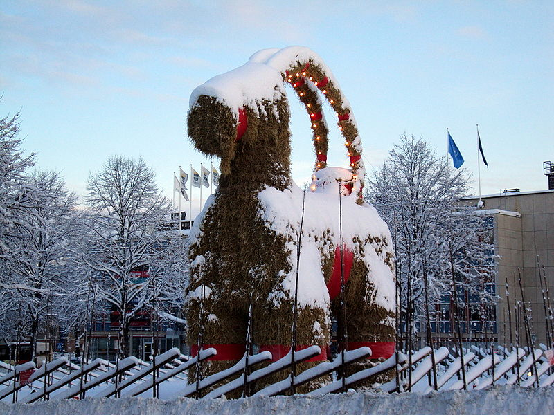 Julbocken in Gävle, Sweden, 2009