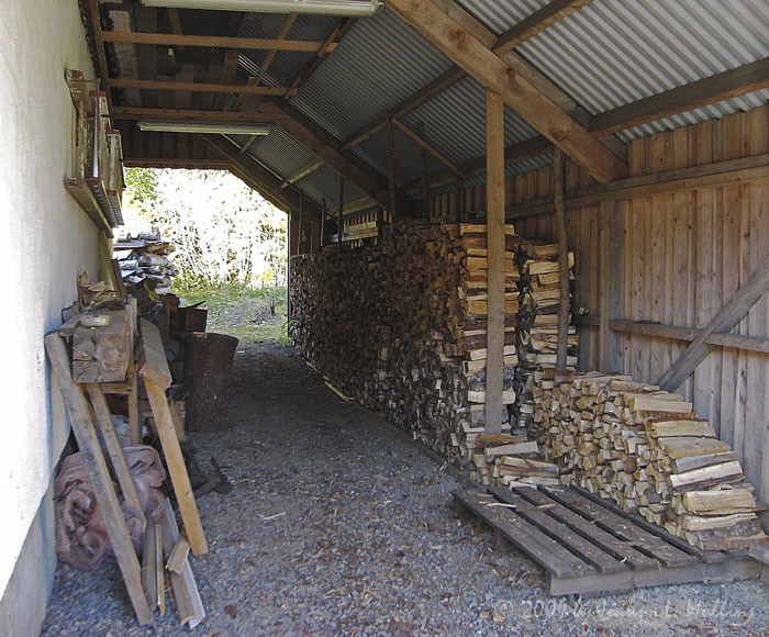 Firewood Stack - Barn